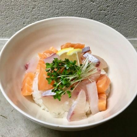 海鮮丼オリーブオイルがけ