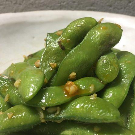 枝豆のにんにくペッパー炒め