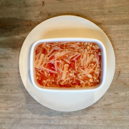 トマトとえのきの無水煮込み