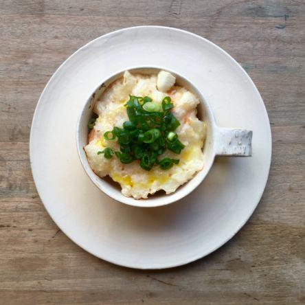 鮭と厚揚げの長芋かけ焼き