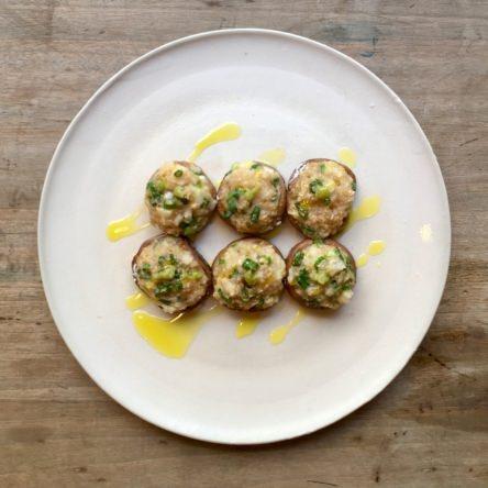 椎茸と長芋のホイル焼き