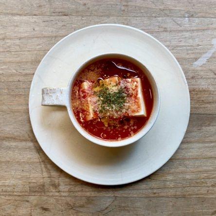 レンジで豆腐のトマト煮
