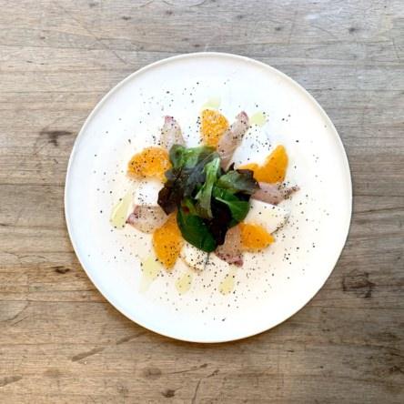 みかんとカブと白身魚のサラダ