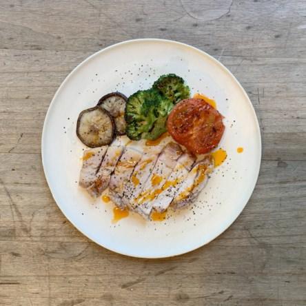 お肉と野菜のオリーブオイル焼き