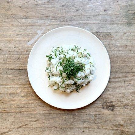 大葉とごまのオリーブオイル混ぜご飯