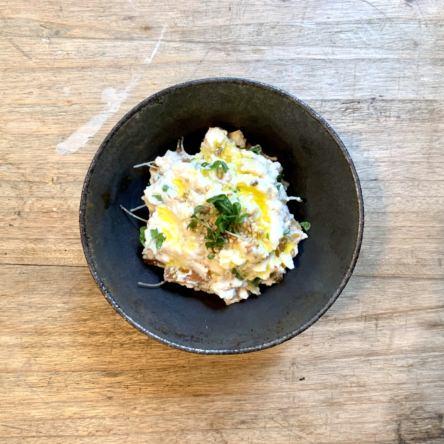 奈良漬とチーズの白和え